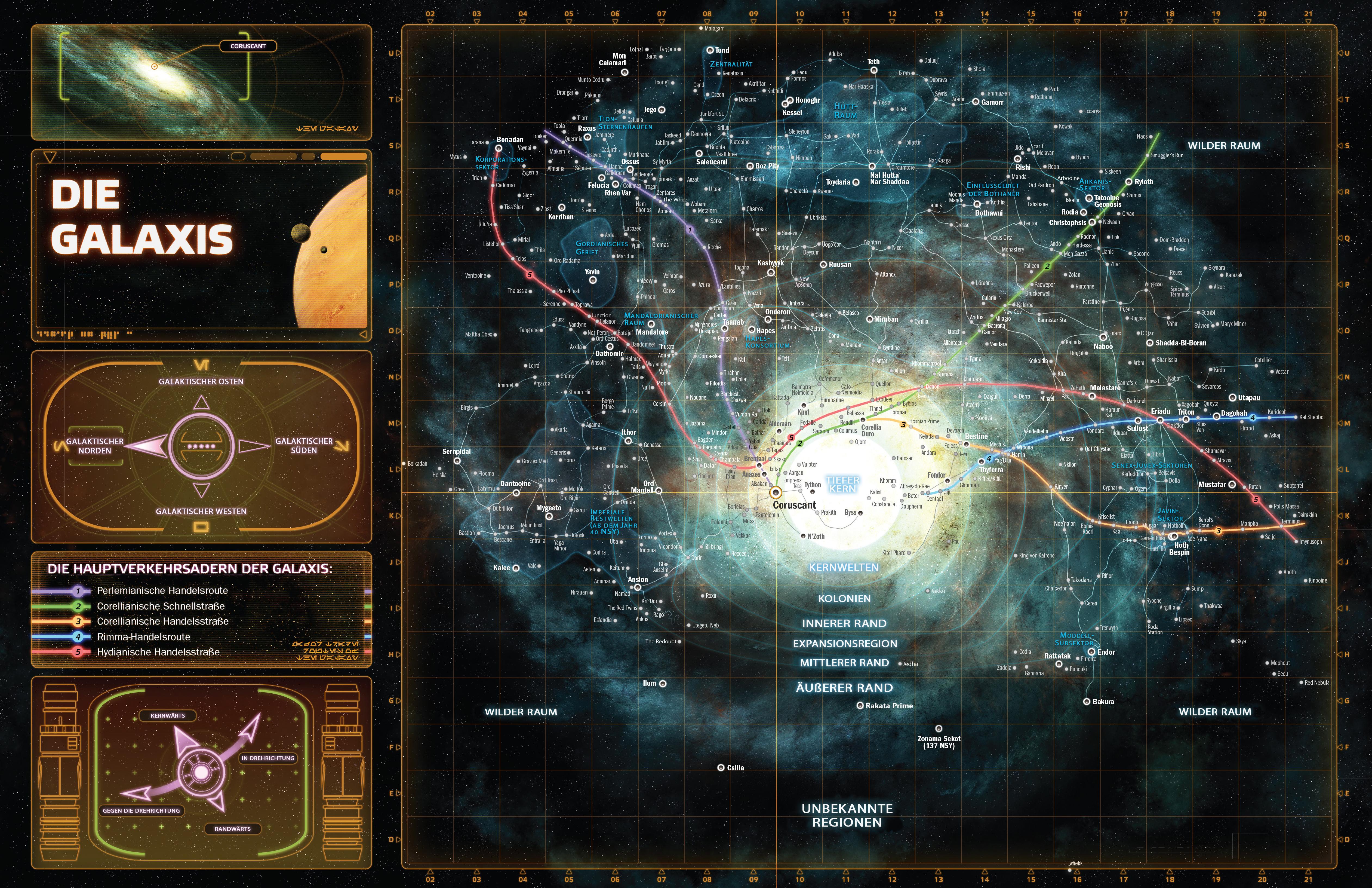 Star Wars Karte.Deutsche Galaxy Karte